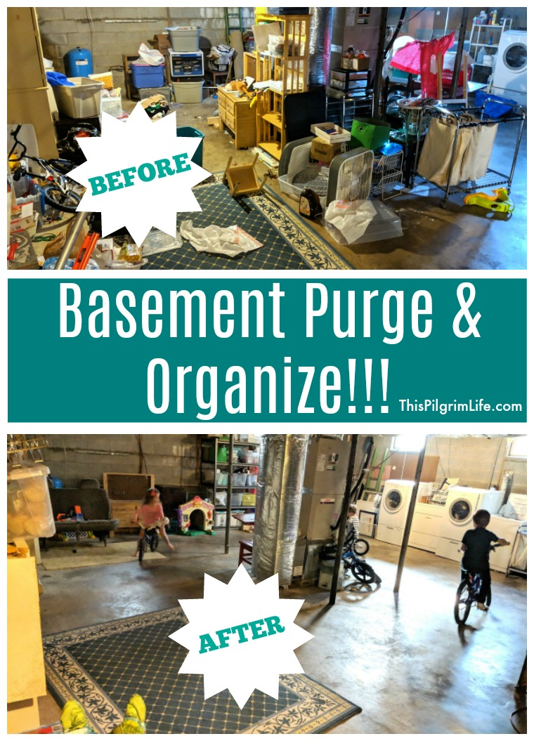 Organizing the Basement :: Before & After