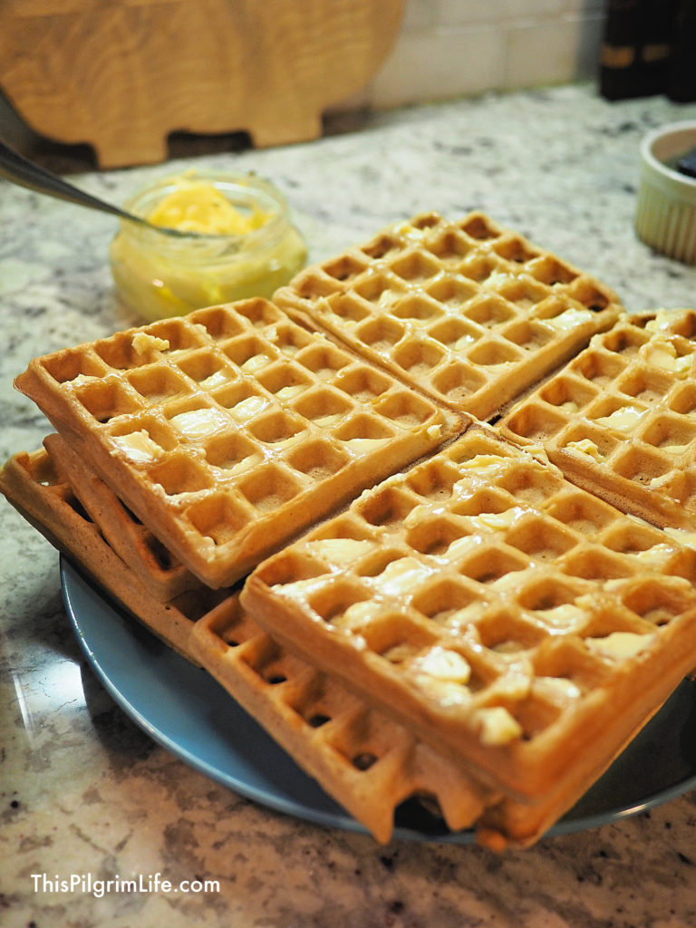 Perfect homemade waffles from scratch, ready for a delicious Saturday morning breakfast!These waffles are easy to prepare and high in protein, fiber, and vitamins.