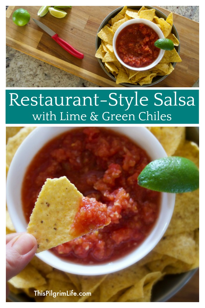 Restaurant-Style Salsa with Lime & Green Chiles