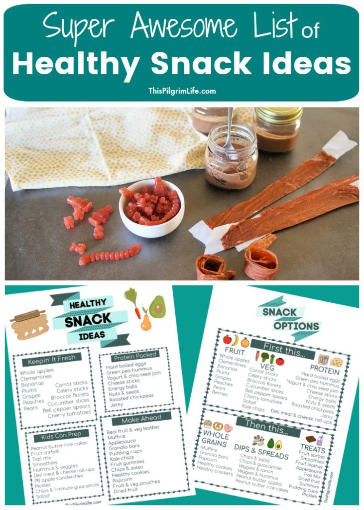 If you're tired of the same old snacks, or want to make healthy changes to your snack routine, this super awesome list of healthy snack ideas is for you! Get fresh inspiration, and easy-to-make recipes!