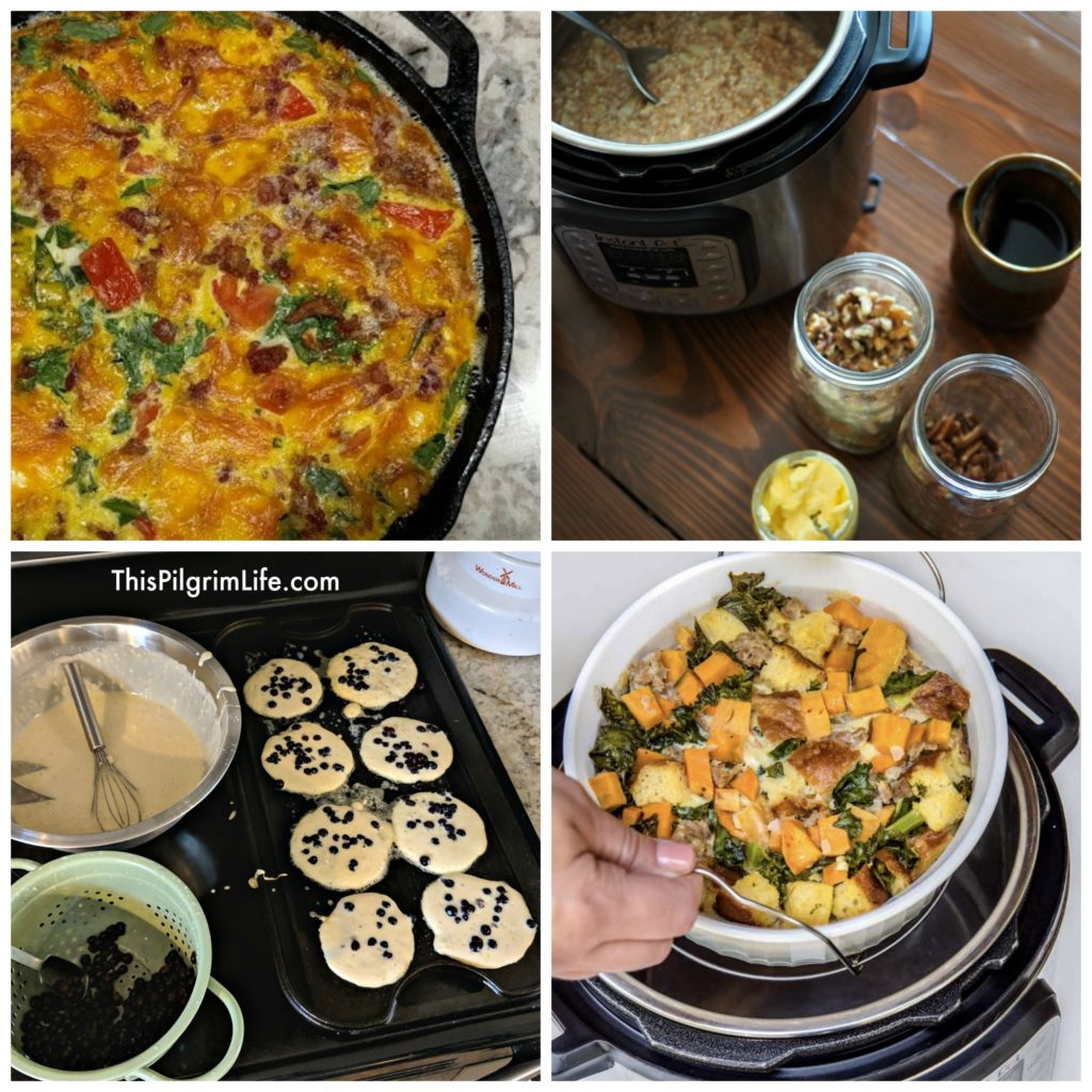 Here's our meal plan for breakfasts, lunches, & dinners for the next two weeks!
