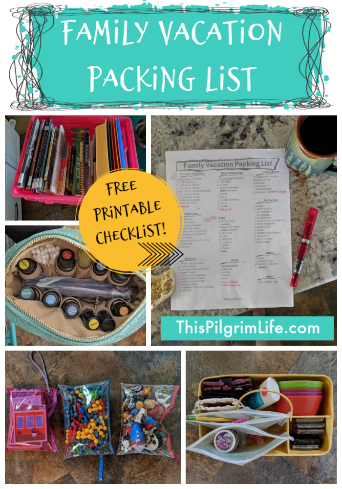 Family vacations can be fun...and a little crazy. So the last thing you want to do is leave something important at home! Use this free printable vacation packing list to be certain all the essentials make it on your next trip!