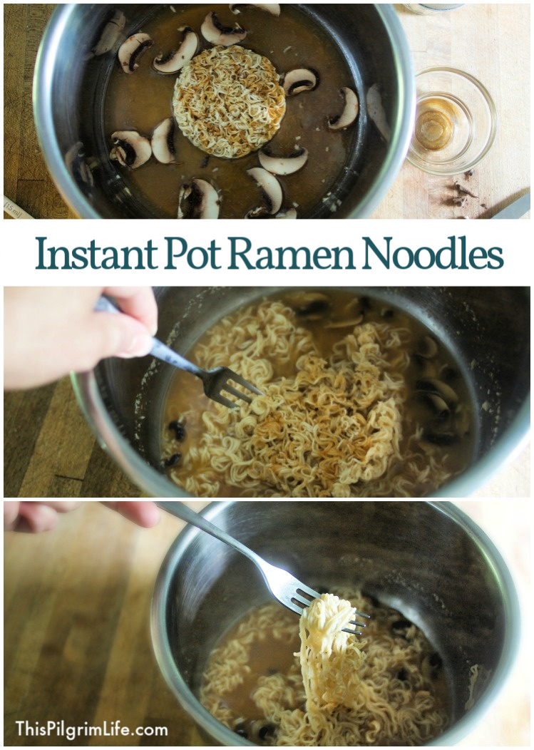 These Instant Pot ramen noodles are my new obsession! They are SO EASY to make, healthier than the packaged version, and make an excellent afternoon or late night snack! Add some cooked chicken, steak, or pork to make it a full meal.