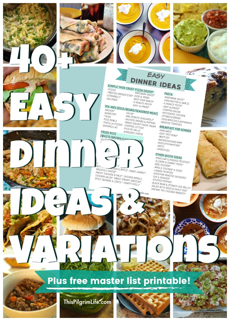 Easy Dinner Ideas Mega List