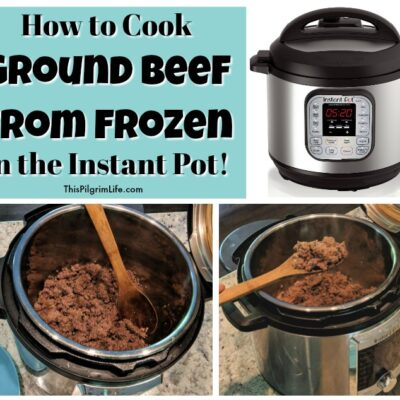 How to Cook Ground Beef from Frozen in the Instant Pot