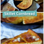 Some meals just call for a pan of rich, butter, slightly sweet cornbread! This skillet cornbread recipe is easy and so delicious! We always make cornbread with chili, rice and beans, and several other meals.