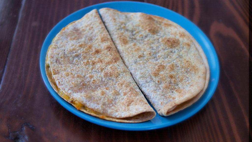Crisp quesadillas made in the Mealthy CrispLid