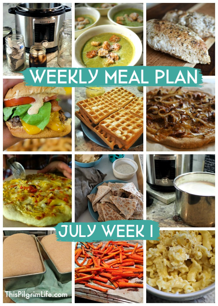 Weekly Meal Plan, July Week 1