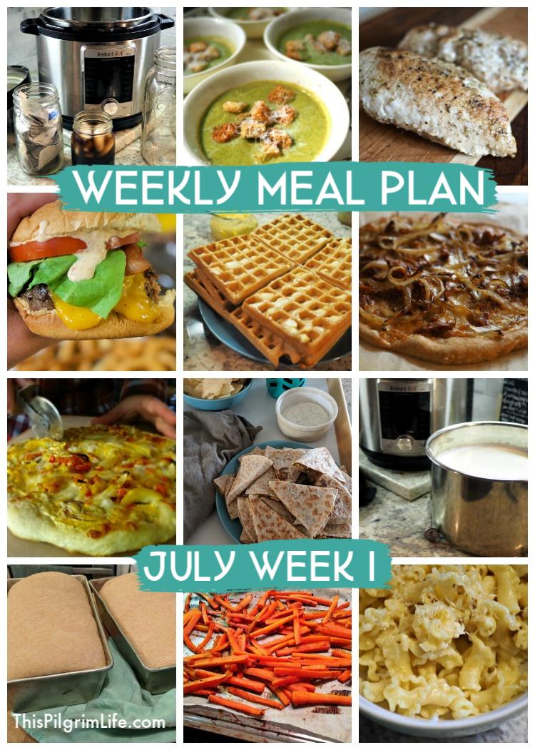 Weekly Meal Plan, July Week 1