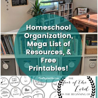 Homeschool Organization Tour & Mega List of Favorite Resources