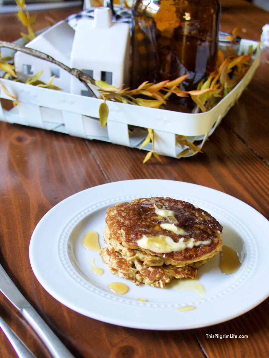 Soft and melt-in-your-mouth banana pancakes! They're so easy to make and gluten-free and dairy-free!