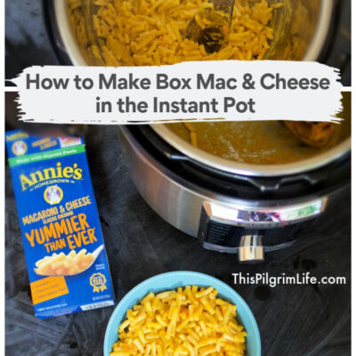 How to Make Box Mac & Cheese in the Instant Pot