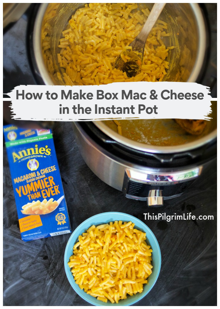 Believe it or not, making box mac & cheese is even easier in the Instant Pot! No need to drain or babysit the pasta while it cooks and everything simply mixes together in one pot. Let me show you how!