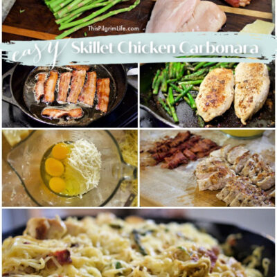 Easy Skillet Chicken Carbonara