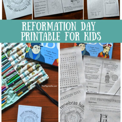 Printable Reformation Day Activity for Kids