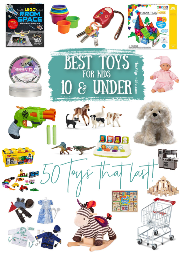 With SOOOOO many toy options out there, how do you know which to pick?! These are some of the BEST TOYS for kids 10 and under, put together by a mom of five busy kids!