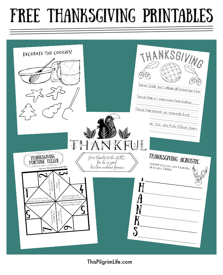Happy Thanksgiving! Print off these free Thanksgiving printables for quick and easy fun on turkey day!