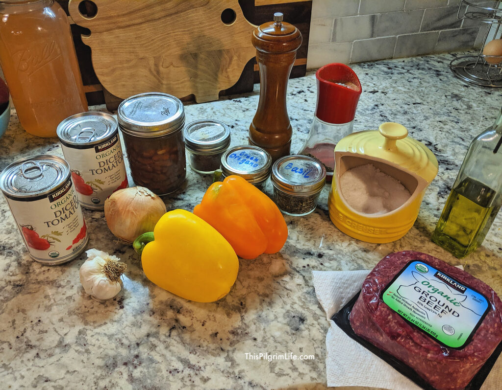 Hearty Instant Pot chili ingredients