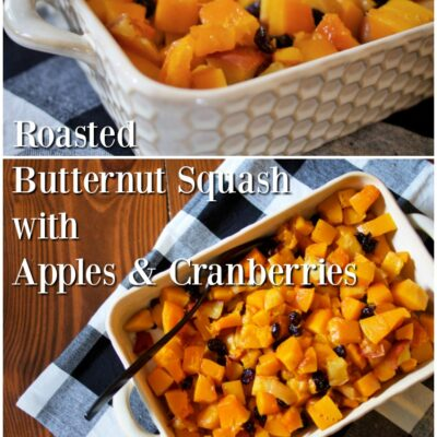 Roasted Butternut Squash with Apples & Cranberries || Easy & Kid-Approved!