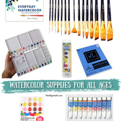 Watercolor Supplies for All Ages