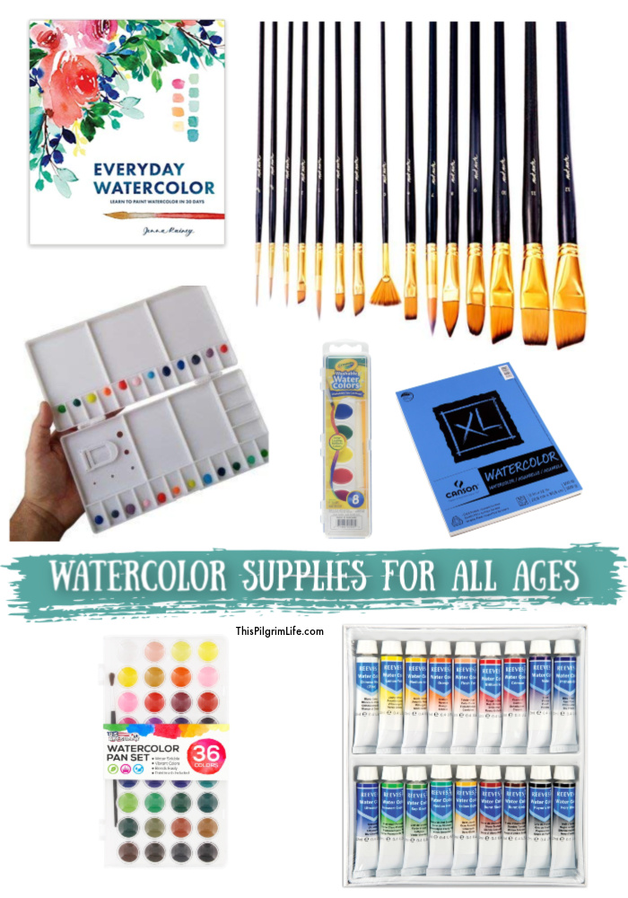 Watercolor painting is a simple and fun hobby for all ages! You can get started with this basic list of watercolor supplies, perfect for artists of any age.
