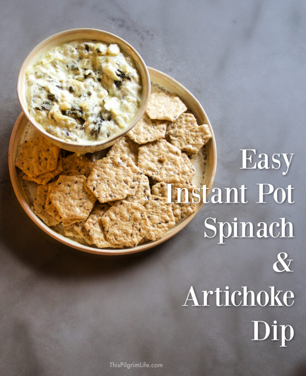 You can make this Instant Pot spinach and artichoke dip with just ten minutes of prep, and two minutes under pressure! It's so quick and easy, and uses all real ingredients!