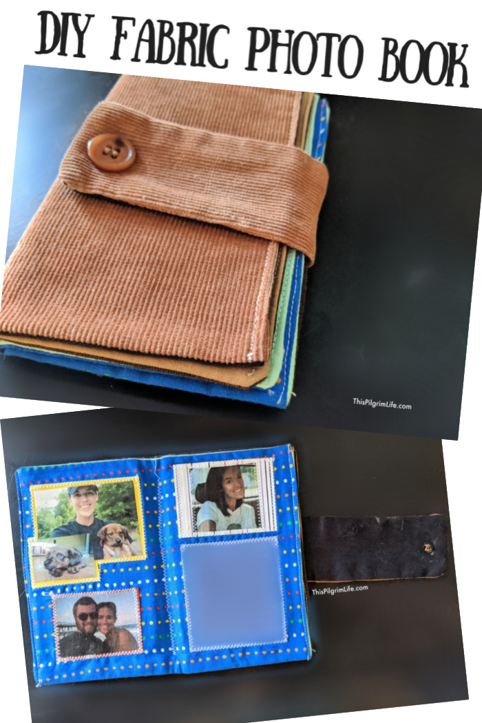 This simple fabric photo book is an easy project that can be so special and significant!