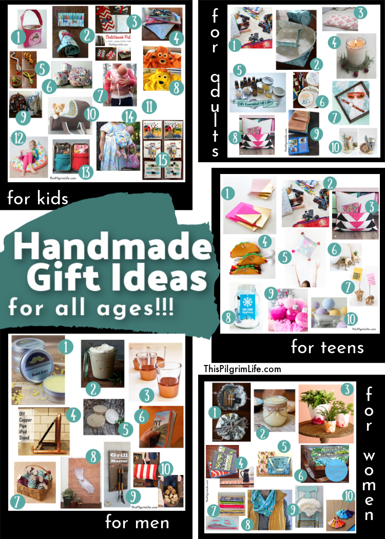 Want to make homemade gifts but don't know where to start or doubt your ability? Let this list of handmade gifts inspire you with easy projects for all ages-- most that can be finished in thirty minutes or less!