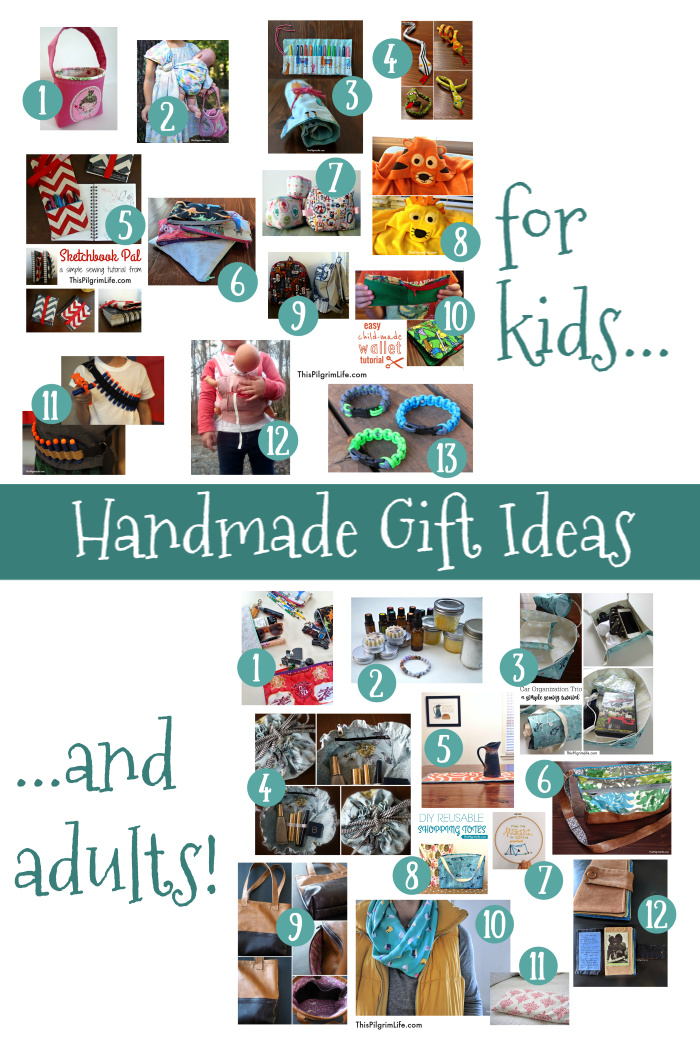 Want to make homemade gifts but don't know where to start or doubt your ability? Let this list of handmade gift ideas inspire you with easy projects for all ages-- most that can be finished in thirty minutes or less!