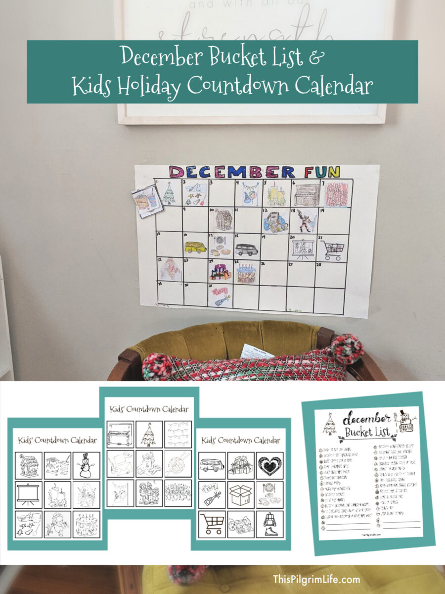 December is full of so much fun and merry memory-making! This simple craft with free printables will help your kids keep track of all the fun events and traditions they are anticipating. Plus, print off a free December bucket list for more holiday family ideas!