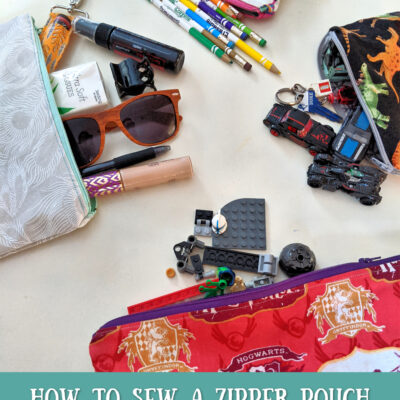 How to Sew A Zipper Bag || Easy Project & Gift Idea!