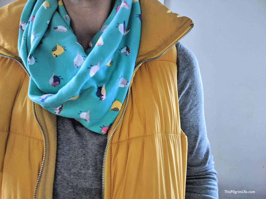 Sewing infinity scarves is so easy! This infinity scarf tutorial will show you how to sew scarves in ten minutes or less-- you'll be filling your closet with infinity scarves in no time!