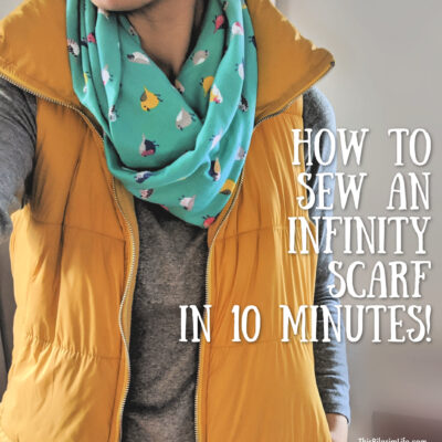 How to Sew An Infinity Scarf in 10 Minutes!