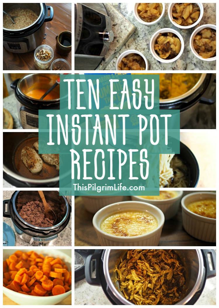 Here are ten of the easiest, most delicious Instant Pot recipes that will give you a taste of just what your Instant Pot can do! These easy Instant Pot recipes are perfect for beginners or anyone looking for simple recipes!