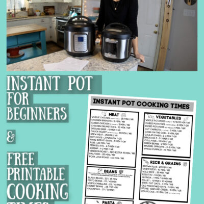 Avoiding Common Instant Pot Problems & Instant Pot Cooking Times Chart
