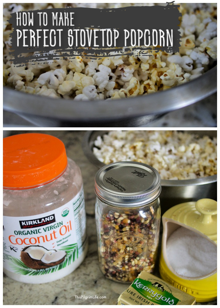 We love making stovetop popcorn at our house! It's so easy once you learn a few tricks. Here's a simple method to get perfectly popped popcorn!