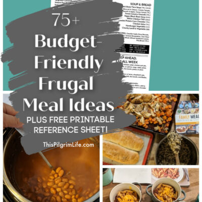 75+ Budget-Friendly, Frugal Meal Ideas