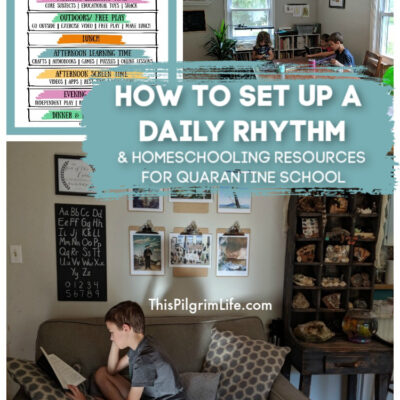 How to Set Up A Daily Rhythm || Homeschooling Resources for Quarantine School