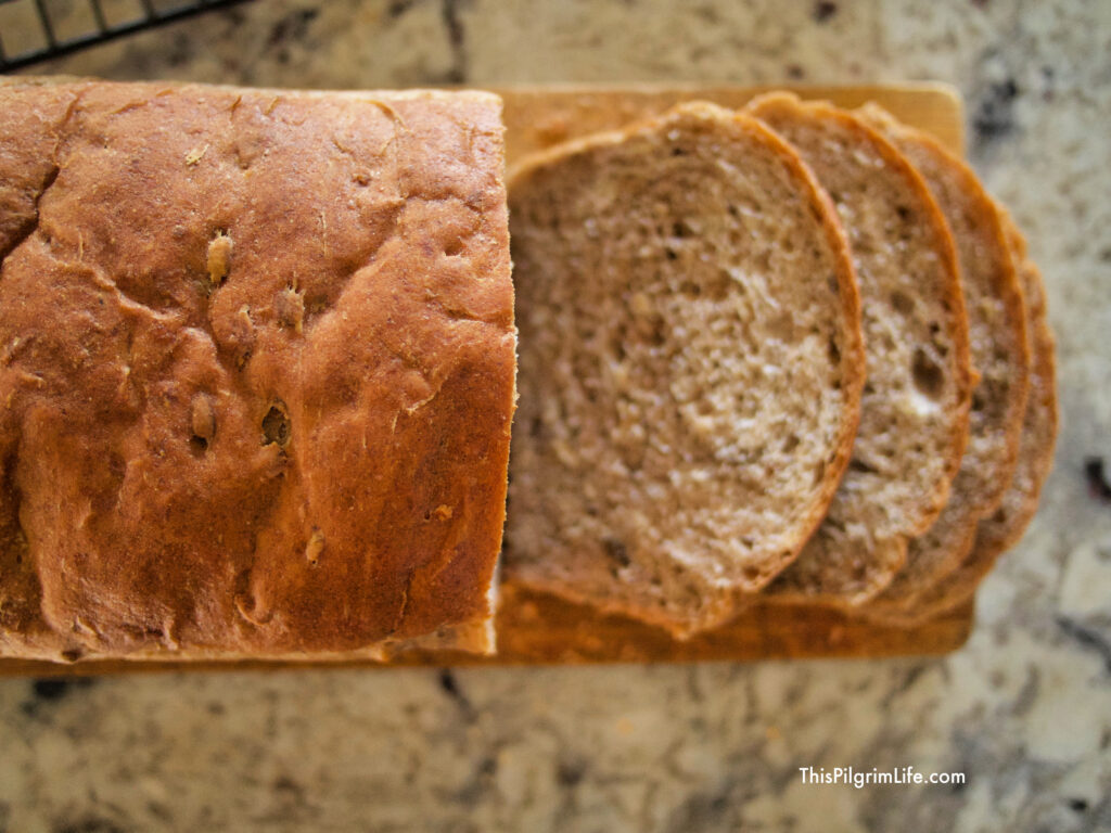 Soft and delicious sandwich bread made with a blend of flours, oats, nuts, and seeds. You're going to love how simple it is to make this homemade oat and nut bread!