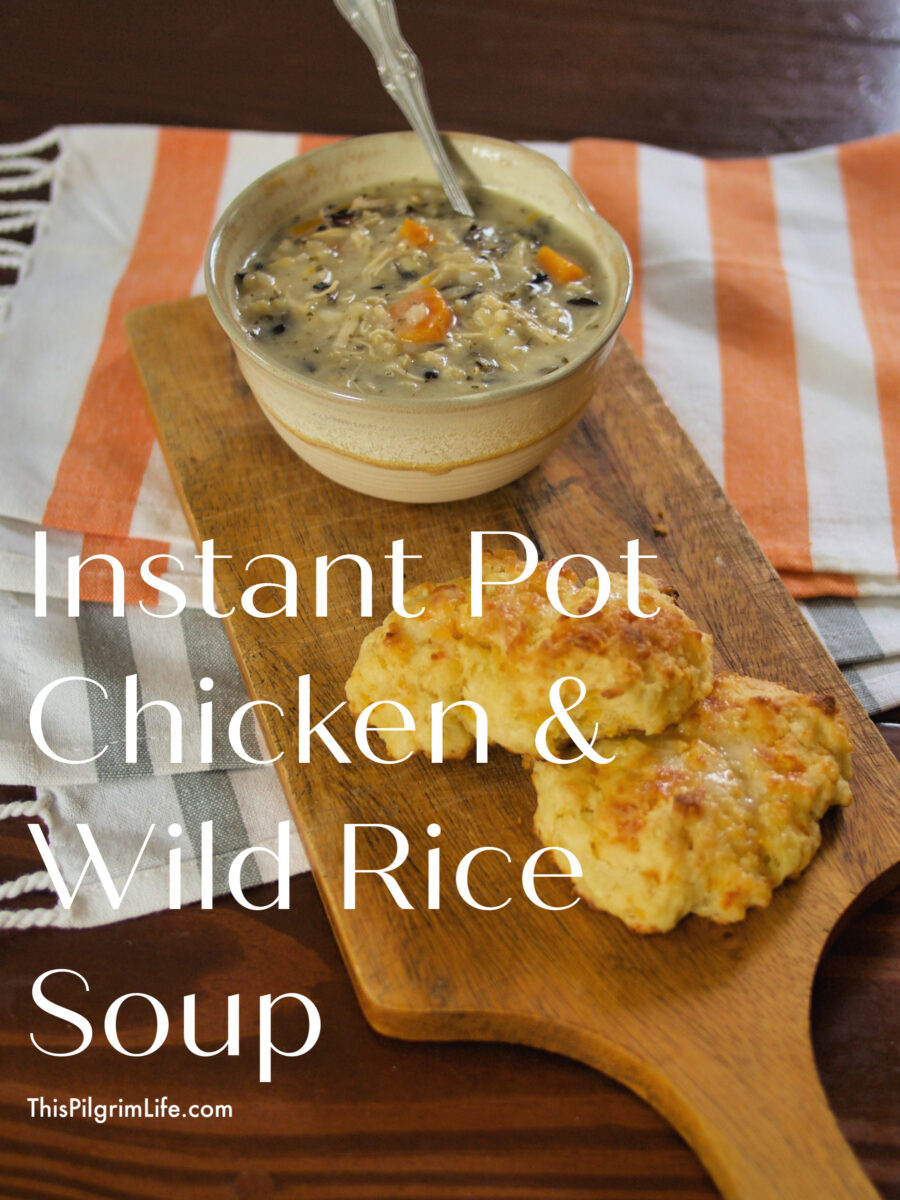 Instant Pot Chicken and Wild Rice soup is so easy to make-- just dump everything in the Instant Pot and cook-- and is so tasty too! The soup is perfect with its rich and creamy broth, fluffy rice, chicken, and vegetables.