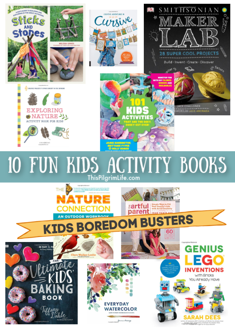 Inspire creativity, ingenuity, learning, and independence with this collection of fun kids activity books! From science experiments to building projects to crafts and time outdoors, these books are sure to beat any boredom and spark the imagination!