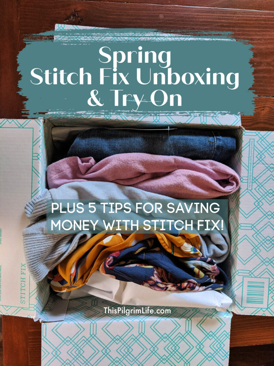 My new Stitch Fix box just arrived and it's full of pieces that can take me through the end of winter and into spring. Check out what they sent in this spring Stitch Fix unboxing, and get tips for saving money with Stitch Fix!