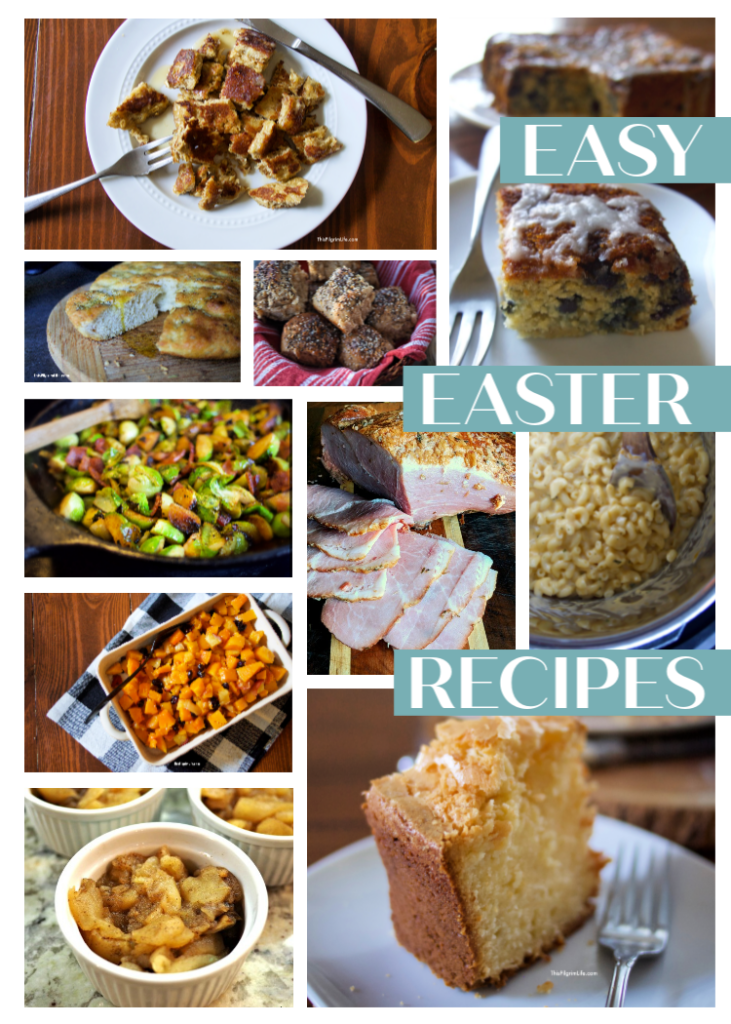 A collection of easy Easter recipes for breakfast, holiday dinner, and dessert-- made from scratch with common pantry and fridge ingredients. Happy Easter weekend!