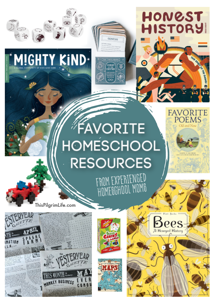 I asked a handful of experienced, respected homeschooling mamas to share with me their favorite homeschool resources. This extensive list is FULL of gorgeous books, subscriptions worthy of investment, fun games, and so much more to help you spread the feast of learning in your home!