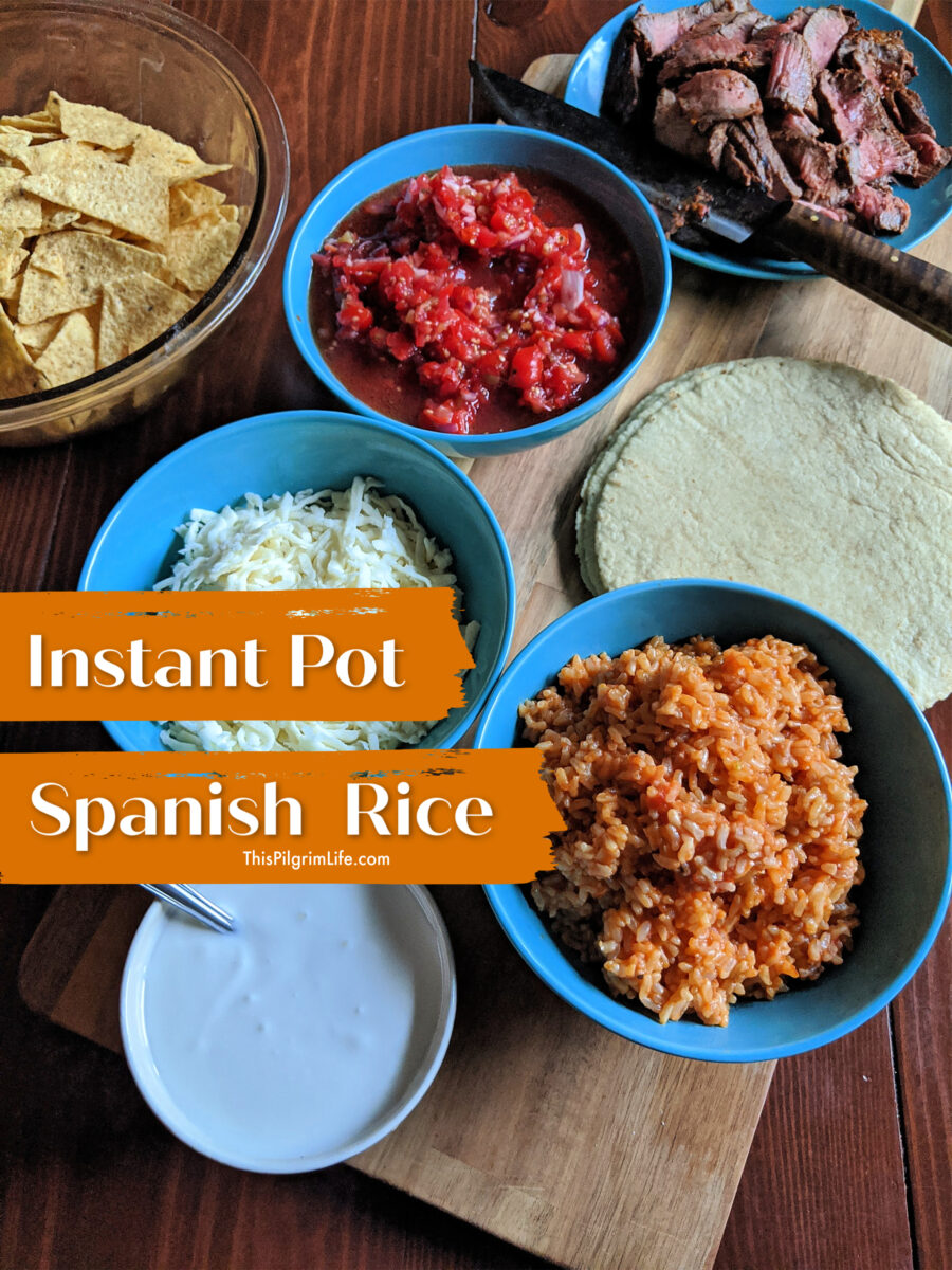 This Instant Pot Spanish rice is easy to make from scratch and is a delicious side dish with tacos, burritos, enchiladas, and more!