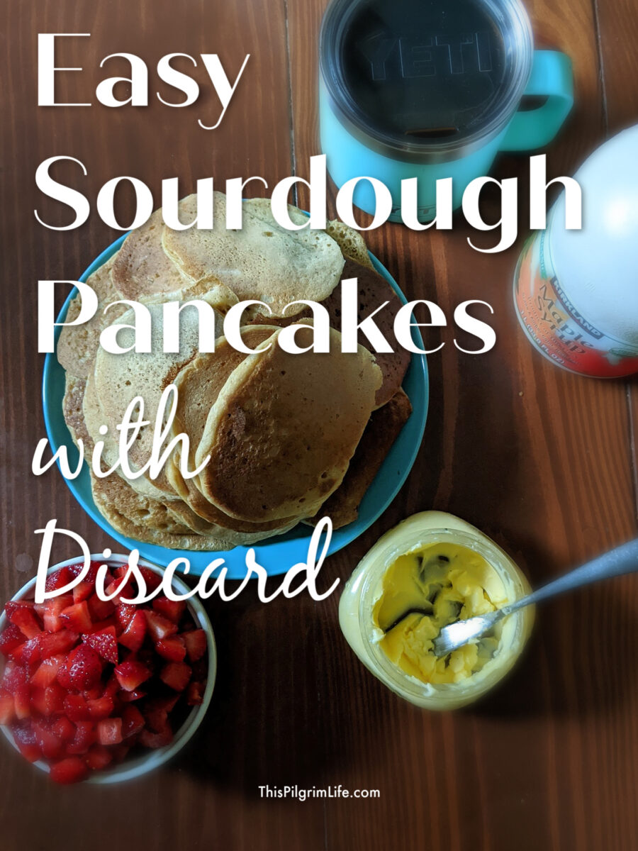 Making sourdough pancakes with discard is so easy, so delicious, and such a great way to put any extra starter you have leftover during the week to use!