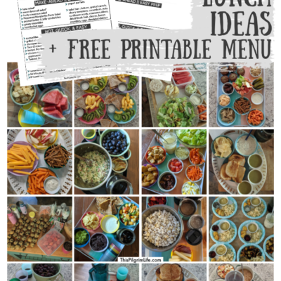 Summer Lunch Ideas + Printable Menu