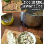 This herb chicken and rice is creamy comfort food, and is so simple to make in the Instant Pot.