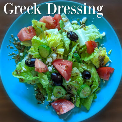 Homemade Greek Dressing