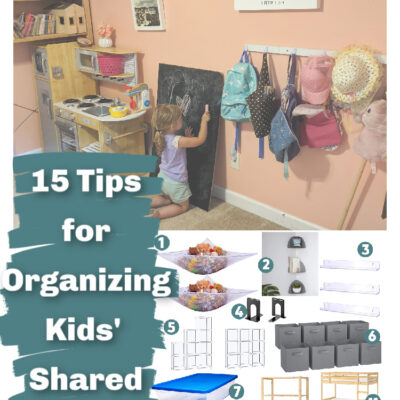 15 Tips for Organizing Kids' Shared Bedrooms